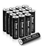 BONAI AA Rechargeable Batteries 2800mAh 1.2V Ni-MH Low Self Discharge 16 Pack - UL Certificate (Tamaño: AA 16 Pack)