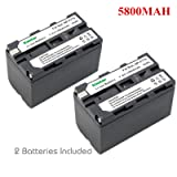 Kastar Battery (2-Pack) for Sony NP-F770, NP-F750, NP-F730 work with Sony CCD-SC5, DCR-TRV820, CCD-SC55, DCR-TRV820K, CCD-SC65, CCD-TRV815, DCR-TRV9, CCD-TR3, DCR-TRV900, CCD-TR3000, CCD-TRV85, DCR-VX200, CCD-TR3300, CCD-TRV86PK, DCR-VX2100, CCD-TR516, DCR-VX2100E, CCD-TR555, CCD-TRV88, DCR-VX700, CCD-TR67, CCD-TRV90, DSC-D700, CCD-TR716, CCD-TRV91, DSR-PD170, CCD-TR76, CCD-TRV93, HDR-FX1, CCD-TR818, CCD-TRV95, HVR-Z1U, HXR-MC2000U, NEX-EA50UH, NEX-FS700U, GV-D700, FDR-AX1 (Color: 02(SET OF 2 BATTERIES))