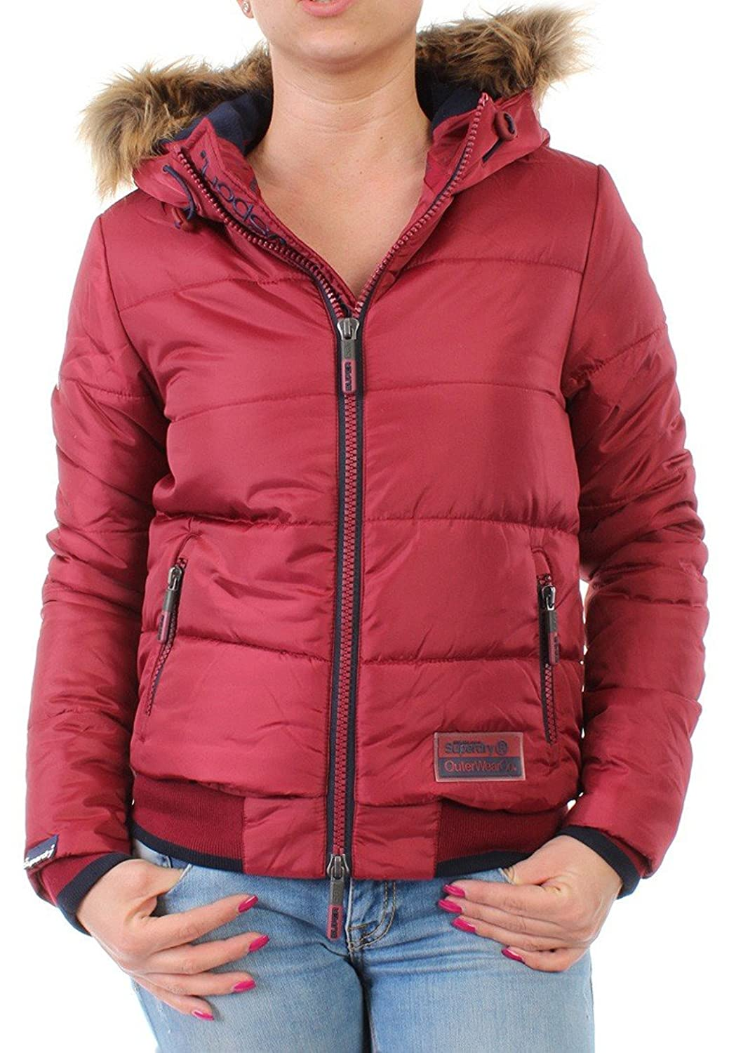Superdry Jacke Women POLAR SPORTS PUFFER Cherry