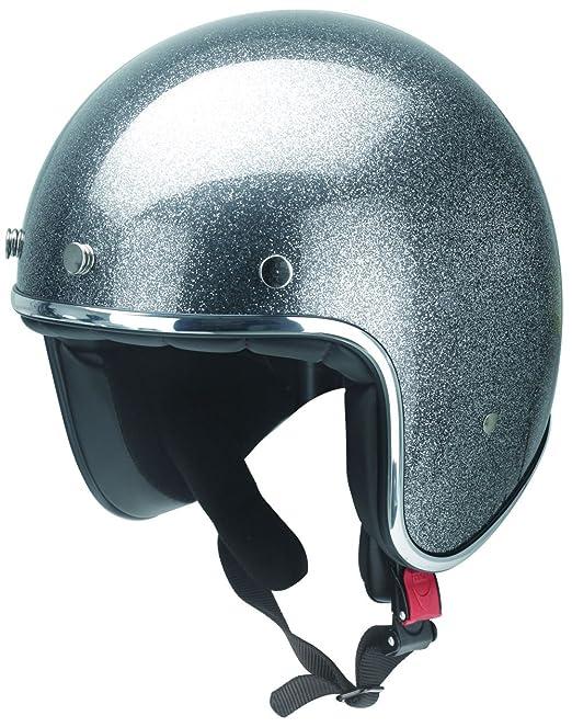 Casque de moto avec bordure chromé-rB - 765-gris métal-taille xS-xXL
