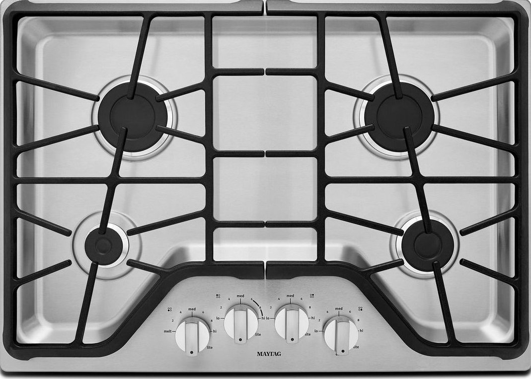 "Maytag 30"" Stainless Steel Gas Cooktop"