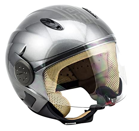 SOXON SP-317 Urban argent casque JET moto Cruiser Pilot helmet - XS S M L XL