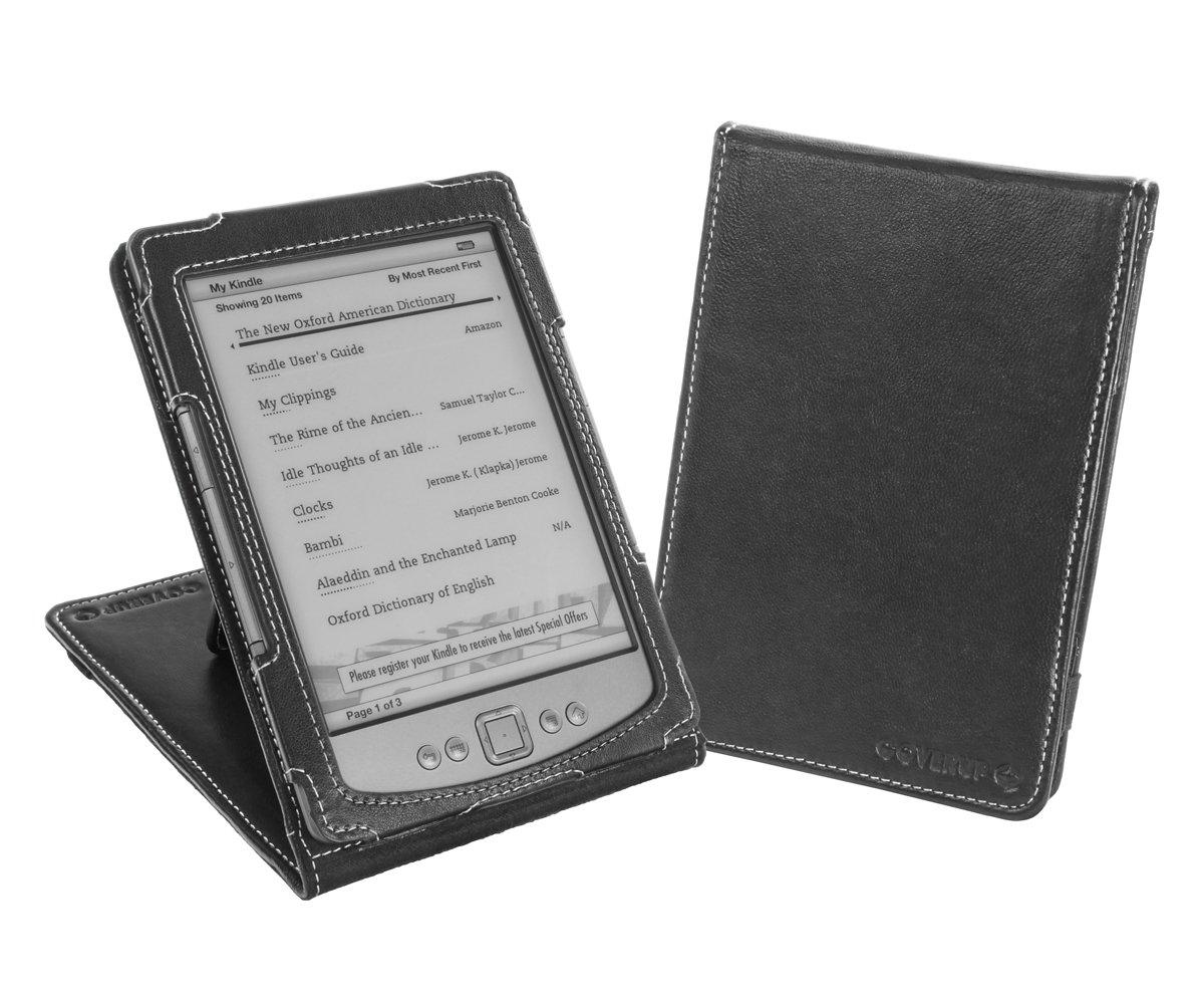Cover-Up - Funda con tapa y función atril para Kindle 4 y 5 (piel sintética), color negro  Informática Revisión del cliente y la descripción más