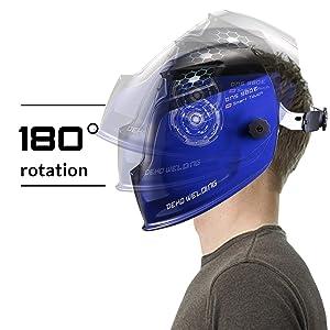 Professional Solar Welding Helmet Weld Grinding Welder Mask (New Blue) (Tamaño: New Blue)