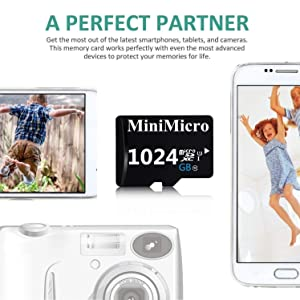 1TB Micro SD Card 1024GB High Speed Class 10 Memory Card for Phone, Tablet and PCs with Adapter
