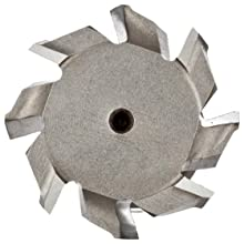 "Niagara Cutter N10930 T-Slot Shank Type Cutter, High Speed Steel, Uncoated (Bright), Weldon Shank, 10 Helix Angle, 1-15/32"" Cutter Diameter, 8 Tooth, 5/8"" Width"