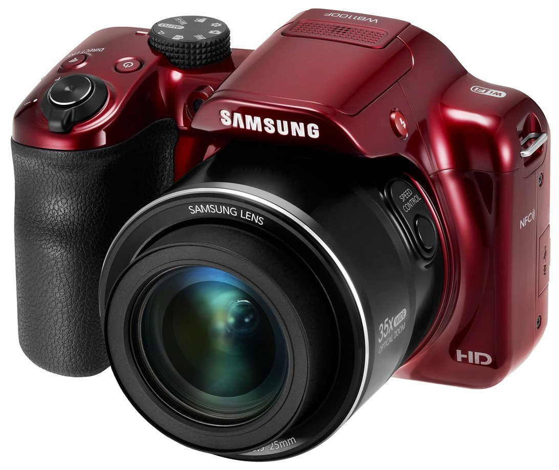 Samsung WB1100 16.2MP SMART Camera (Red)-(Certified Refurbished)