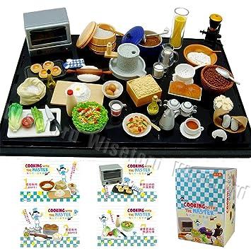 Cuisine Maître 1:12 Nourriture Miniature Poupées' Maison Accessoires 8 Jeux En 1 Pack