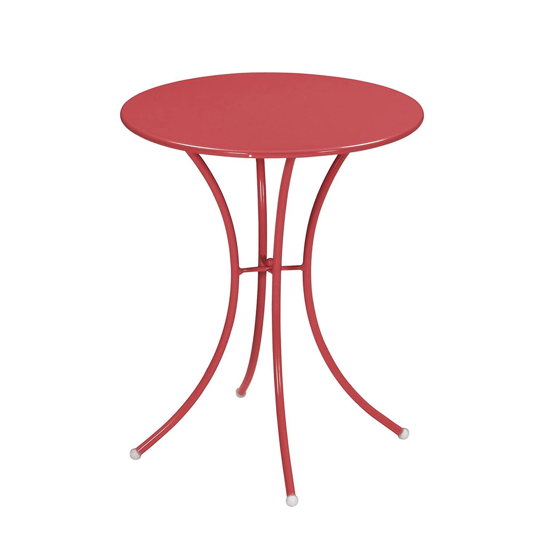 Emu 309054400 Pigalle Tisch 905, ø 60 cm, pulverbeschichteter Stahl, rot