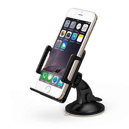 "TaoTronics® TT-SH02 Universal Windshield & Dashboard Car Mount Cradle Holder for iPhone 6 5S 5C 5 4S 4 3GS, Samsung Galaxy Note II S4 S3 S2, HTC OneX EVO 4G Rhyme DROID RAZR, Google Nexus, LG Optimus, Nokia Lumia, Compact GPS 1.97""-3.94"" -Black: Amazon..."