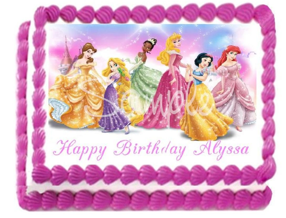 Disney Princess Birthday Party Edible Image Cake Toppers