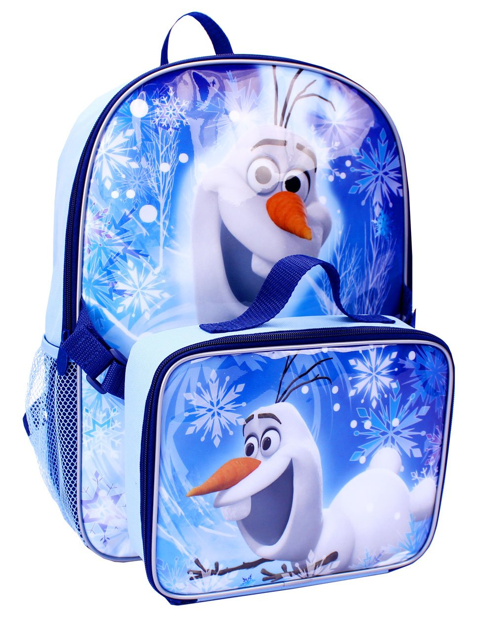 Disney Frozen 16 Olaf the Snowman School Backpack with Detachable Lunch Box