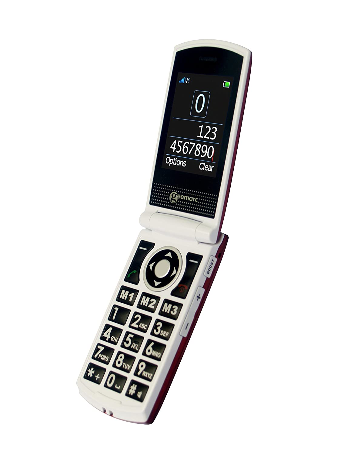 T�l�phone GSM GEEMARC CL8450 ROUGE BLANC