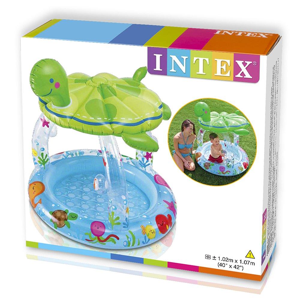 Piscina intex con techo en forma de tortuga ideal para for Amazon piscinas infantiles