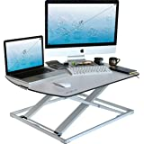 Height Adjustable Standing Desk Converter - Stand Up Desk Used as Computer and Monitor Stand - Ultra Slim Stunning Design - White - 31