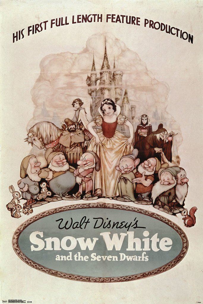 Disney Snow White And The Seven Dwarfs One Sheet Movie Poster 24x36 0