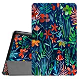 Fintie Slim Case for Samsung Galaxy Tab E 9.6 - Ultra Lightweight Protective Stand Cover for Tab E Wi-Fi/Tab E Nook/Tab E Verizon 9.6-Inch Tablet (SM-T560/T561/T565/T567V), Jungle Night (Color: Z- Jungle Night)