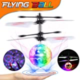 Flying Ball, Infrared Induction Drone RC Flying Toy Hand Control Helicopter with Shining LED Lights Disco USB Rechargeable Fun Novelty Toys Birthday Christmas Gifts Ideal for Kids Boys Girls Teens