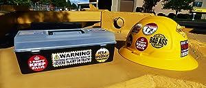 22-Pack Funny Hard Hat, Tool Box Stickers   100% Vinyl PVC