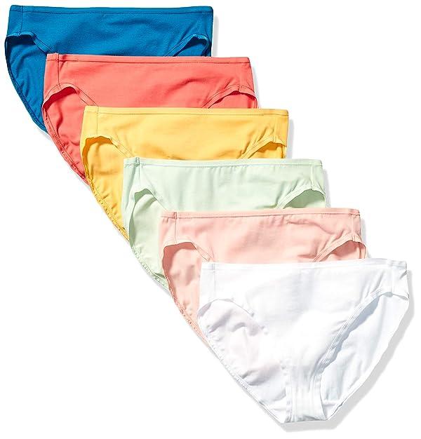 Essentials 6-Pack Cotton Thong Underwear Mujer