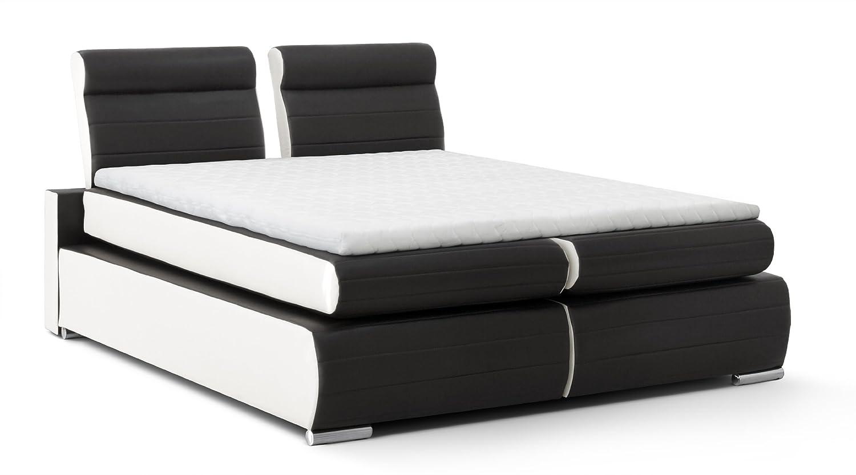 b famous boxspringbett monaco 180 x 200 cm pu kunst leder. Black Bedroom Furniture Sets. Home Design Ideas