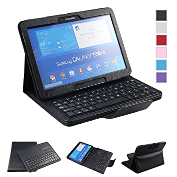 This is on my Wish List: NEWSTYLE Samsung Galaxy Tab 4 10.1 Keyboard Case - Premium Muti-angle Stand Folio Cover Case with Slim Magnetically Detachable Bluetooth Keyboard For 10.1 inch Galaxy Tab 4 SM-T530 SM-T531 SM-T535 (Black): : Electronics
