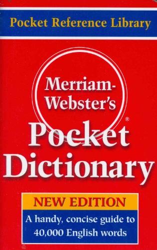 Merriam - Webster Inc. Merriam Websters Pocket Dictionary