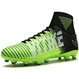 VITIKE Kids Soccer Cleats Shoes Boys Youth Cleats Football Boots High-top Cleats for Soccer (Color: 2-green, Tamaño: 9 M US)