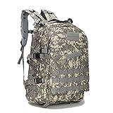 SUNMENCO Playerunknown's Battlegrounds PUBG Level-3 Instructor Backpack Rucksack Camouflage Backpack Men's Camping & Hiking Bag Student Double Shoulder Bag for PUBG WINNER WINNER Chicken Dinner (Color: ACU)