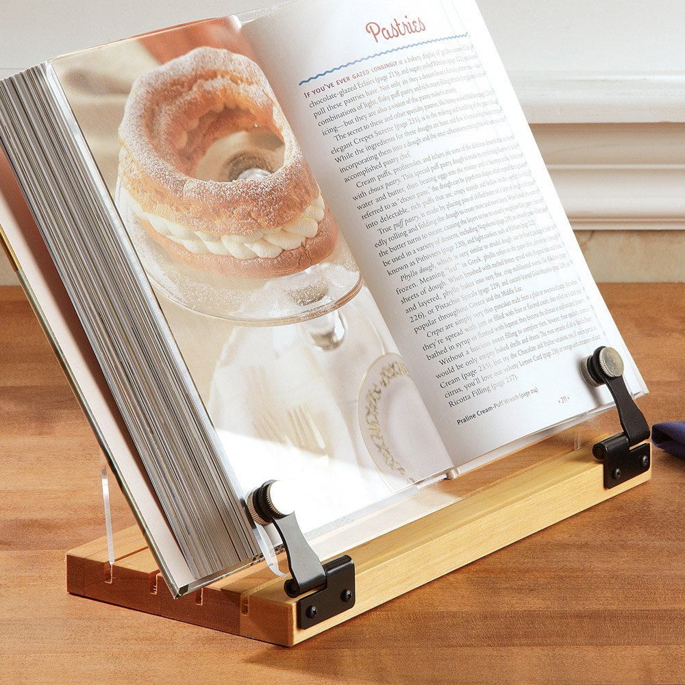 Wooden Cookbook Holder Stand