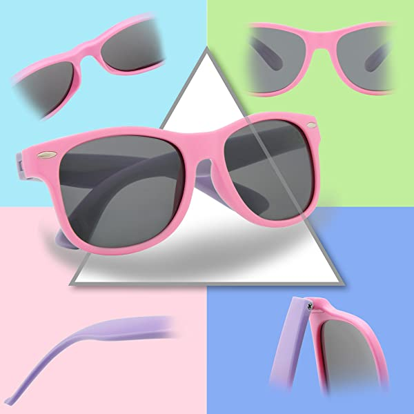 e4661ac99c RIVBOS GAFAS DE SOL POLARIZADAS PARA NIÑOS - de goma con gafas de correa  Pantallas para niños, niñas ...