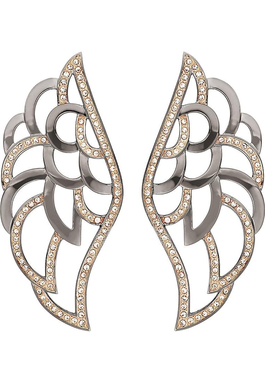 JETTE Silver Damen-Ohrstecker Angeldust Metall 176 Kristall One Size, rosé/schwarz günstig bestellen