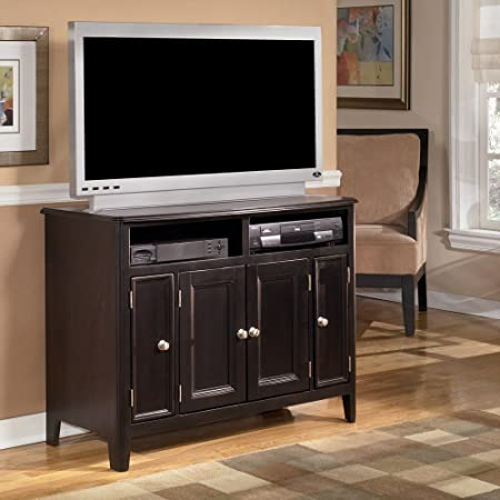 Contemporary Almost Black Carlyle TV Stand