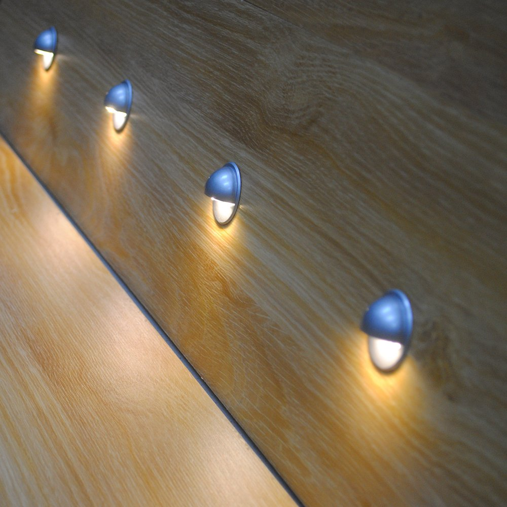 """Pack of 10 Low Voltage LED Deck Light Kit Φ1.38"""" Waterproof Outdoor Step Stairs Garden Yard Patio Landscape Decor Lights Warm White Lamp"""