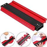10 inch Contour Gauge Plastic Profile Gauge Multifunctional Shape Duplicator Edge Shaping Measure Ruler for Professional Precise Measurement (Red) (Color: Red, Tamaño: 25 cm)