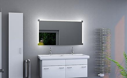Design specchio da bagno con illuminazione a LED specchio da parete bagno specchio luce satinata superfici S390, (Breite: 60 x Höhe: 90 cm)