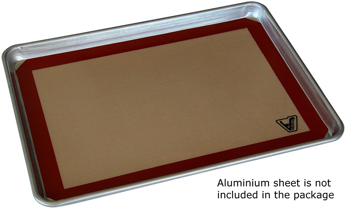 "Silicone Baking Mat - Set of 2 Half Sheet (Thick & Large 11 5/8"" x 16 1/2"") - Non Stick Silicon Liner for Bake Pans & Rolling - Macaron/Pastry/Cookie/Bun/Bread Making - Professional Grade Nonstick"