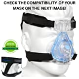 CPAP Headgear Strap Universal ResMed & Respironics Replace Straps for CPAP / BIPAP Mask, No Air Leaks Ultimate Comfort Tight Seal & Perfect Fit Compatible w/ Full Face & Nasal Apnea Masks (Small)