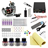 Wormhole Tattoo Complete Tattoo Kit for Beginners Tattoo Power Supply Kit 4 Tattoo Inks 5 Tattoo Needles 1 Pro Tattoo Machine Kit Tattoo Supplies TK1000030