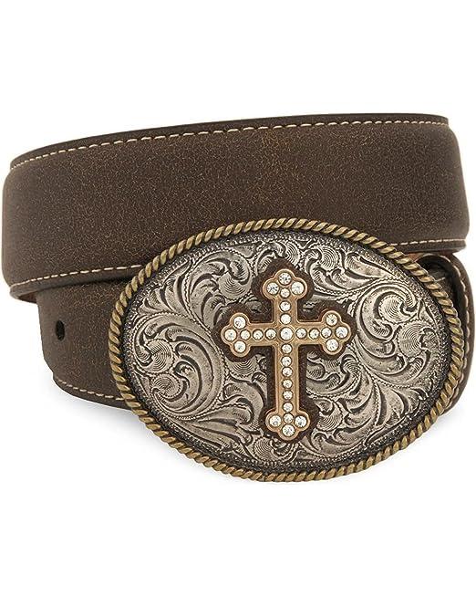Oval Cross Buckle Belt