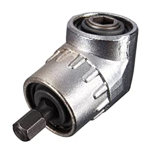 Angle Drill JTENG 105 °Angle Extension 1/4inch 6mm Hex Drill Bit Screwdriver Socket Holder Adaptor