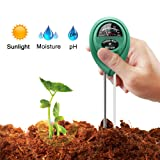 Marge Plus Soil Moisture Meter, 3 in 1 Soil Test Kit Gardening Tools for PH, Light & Moisture, Plant Tester for Home, Farm, Lawn, Indoor & Outdoor (No