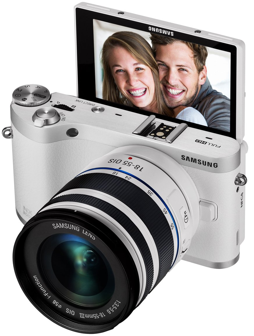 Samsung-NX300M-20-3MP-CMOS-Smart-WiFi-NFC-Compact-Interchangeable-Lens-Digital-Camera-with-18-55mm-Lens-and-3-3-AMOLED-Touch-Screen-White-