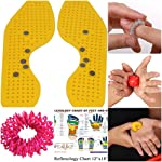 Super India Store Magnetic n Acupressure Shoe Sole: Pressure Points & Magnets for Reflex Points on the Feet with FREE Power Ball, Power Thumb, Su Jok Ring & Reflexology Chart for Hand & Feet Worth RS. 176/