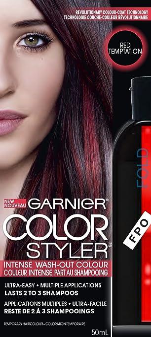garnier hair color color styler intense wash out color red temptation - Garnier Color Styler
