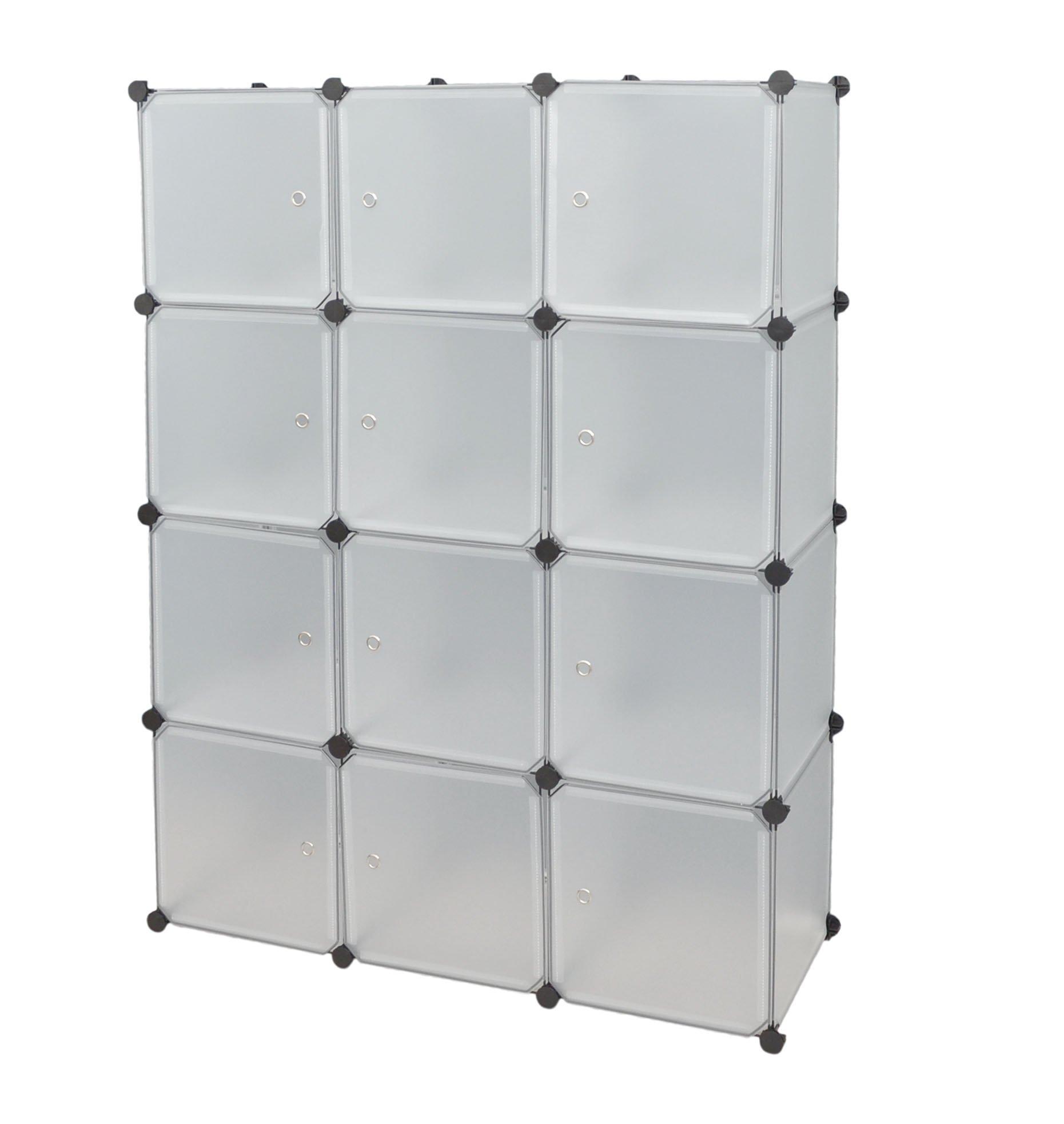 Ts ideen 5121 armadio componibile con 12 scomparti for Arredamento amazon