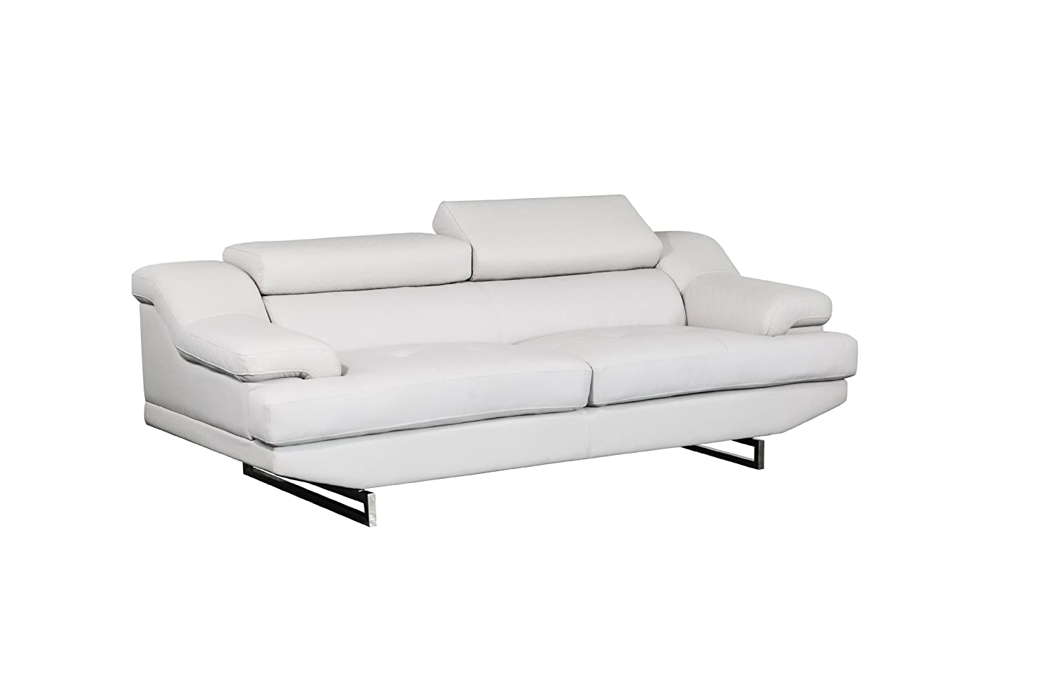 Global Furniture Natalie Sofa - Light Grey and Wagner