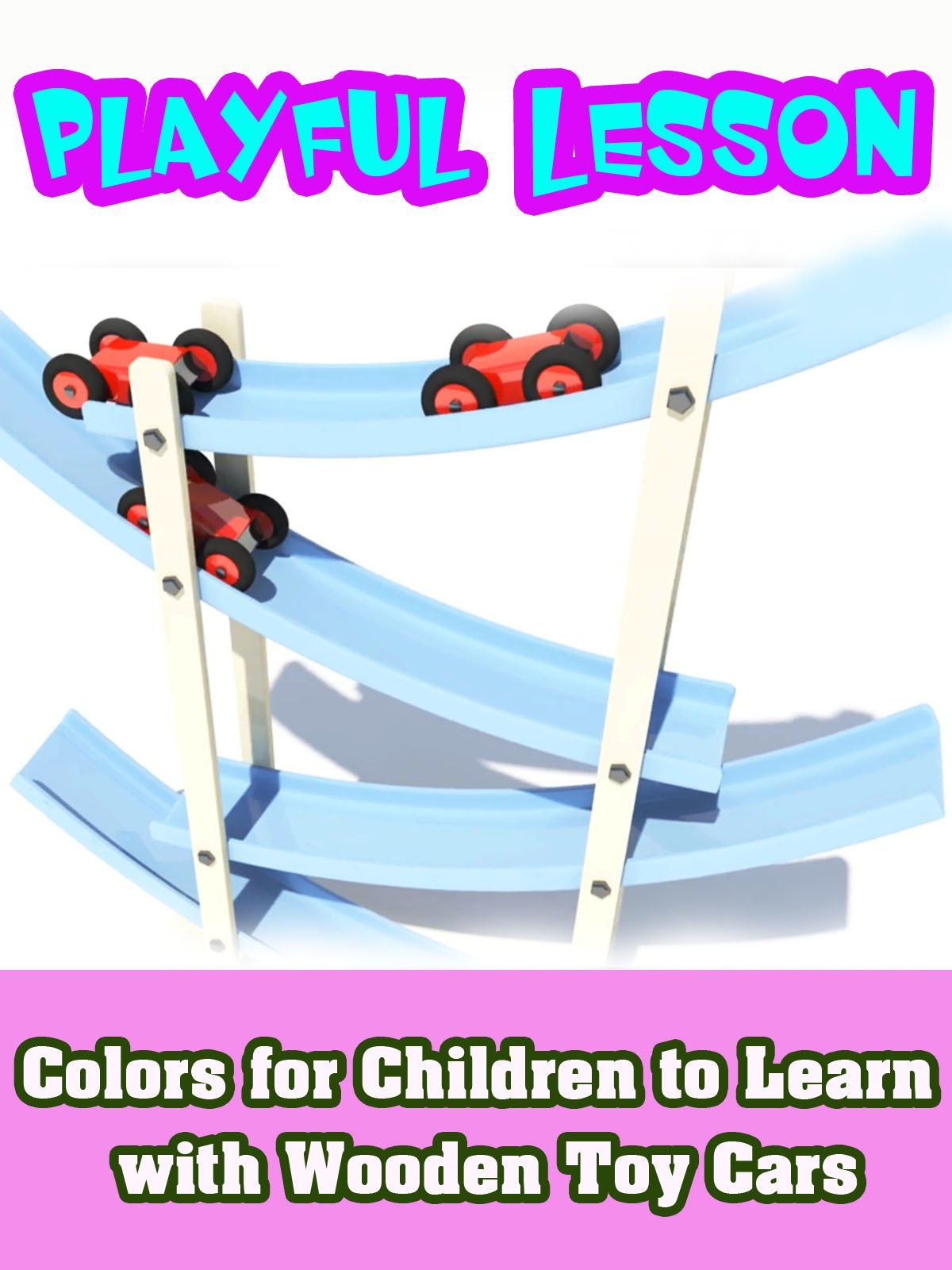 Colors for Children to Learn with Wooden Toy Cars