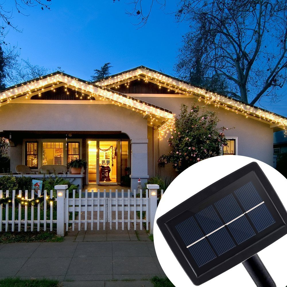 viel spass highbrightness kupferdraht solar weihnachtsbeleuchtung 6m 120led ebay. Black Bedroom Furniture Sets. Home Design Ideas