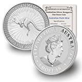 2020 AU 1 oz Australian Kangaroo .9999 Fine Silver Coin $1 Brilliant Uncirculated w/Our Certificate of Authenticity